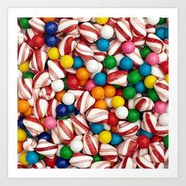 Peppermints and Gumballs Art Print