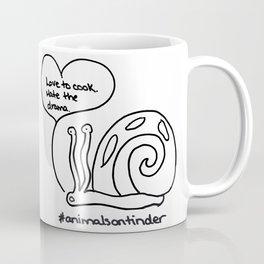 Animals on Tinder: Dramatic Snail Coffee Mug