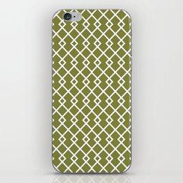 Olive Green Diamond Pattern iPhone Skin