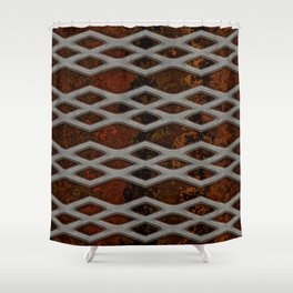 mesh on granite  Shower Curtain