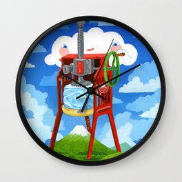 """Shave Ice"" Wall Clock"