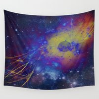 pocket fuel Wall Tapestries featuring Fuel Trails by AbstractAnomaly