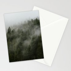 Pacific Northwest Foggy Forest Stationery Cards