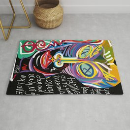 Keep on Holding to your Dreams my Love Street Art Graffiti Rug