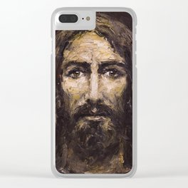 The Man (Jesus) of the Holy Shroud Clear iPhone Case