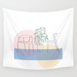Plant and chairs Wall Tapestry