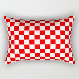 Jumbo Australian Racing Flag Red and White Checked Checkerboard Pattern Rectangular Pillow