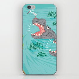 Crocodiles and Hippos iPhone Skin