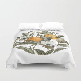 Orange Blossom Duvet Cover