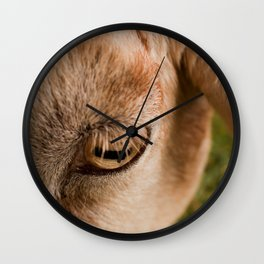 Window to a goat's soul  Wall Clock