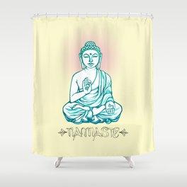 Buddha Namaste Shower Curtain