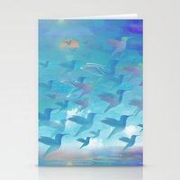 wings Stationery Cards featuring Wings by sandesign