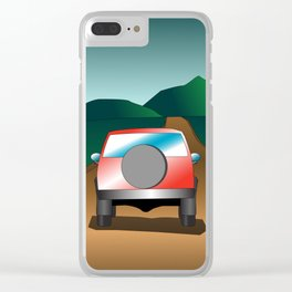Exploring the countryside Clear iPhone Case