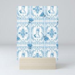 Marie-Antoinette Monogram (Aqua) Mini Art Print