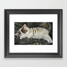 Sleeping Accordion Framed Art Print