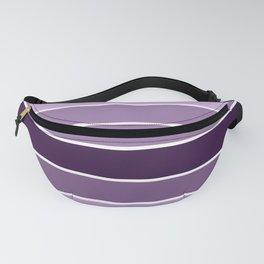 Lavender Purple Stripes Fanny Pack