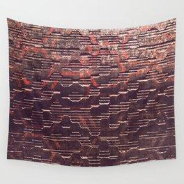HexR1 - Distressed Sci-Fi Steel Texture Wall Tapestry