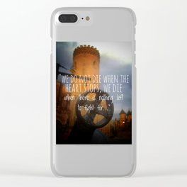 Tower of faith Clear iPhone Case