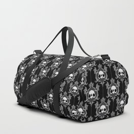 Halloween Damask Black Duffle Bag