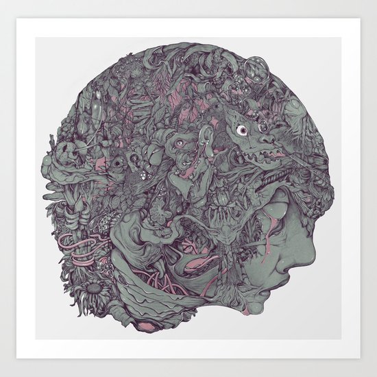 In Mind Head Art Print