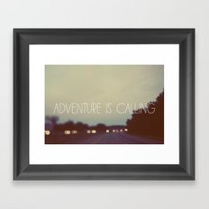 Adventure is Calling Framed Art Print