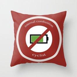 No E-Bike No Battery Throw Pillow