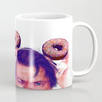 actor Mugs featuring Steve Buscemi and donuts by Thubakabra