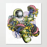 spaceman Canvas Prints featuring SPACEMAN by • PASXALY •