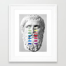 Sculpture With A Spectrum 1 Framed Art Print
