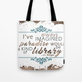 Paradise = Library Tote Bag