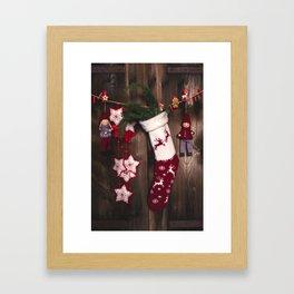 Christmas stockings Framed Art Print