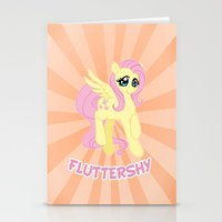 mlp Stationery Cards featuring MLP FiM: Fluttershy by Yiji