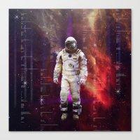 interstellar Canvas Prints featuring Interstellar by Tony Vazquez