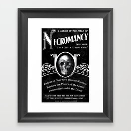 Faux School of Necromancy Recruitment Poster Framed Art Print