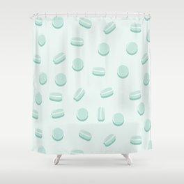 Mint Macaron Pattern Shower Curtain
