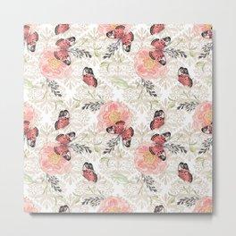 Flowers & butterflies #2 Metal Print
