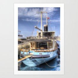 Lutteur Motor Yacht Art Print