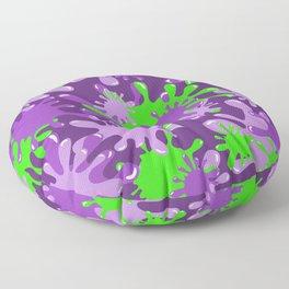 Slime in Green on Purples Floor Pillow