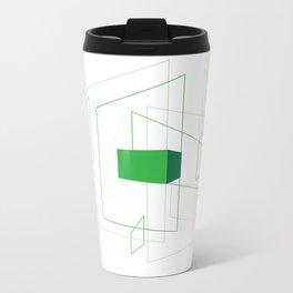 Blueprint #1 (green) Metal Travel Mug