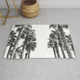 Palm Tree Days {2 of 2} Tropical Black and White Cali Art Print Rug