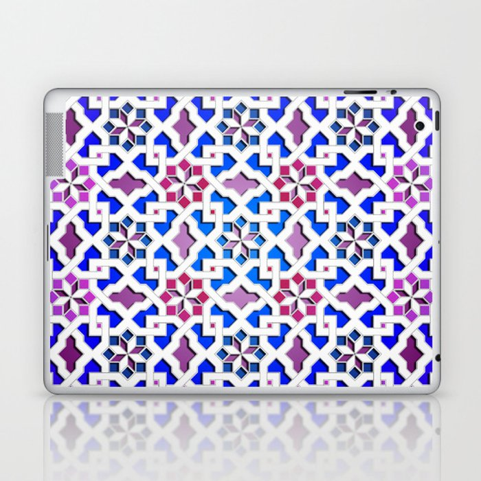 Beautiful oriental flower pattern 9 Laptop & iPad Skin