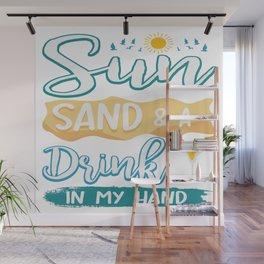 Funny Summer Sun Beach Holiday Vacation Drink Gift Wall Mural