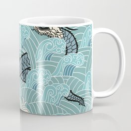Pattern of water with dragons Coffee Mug