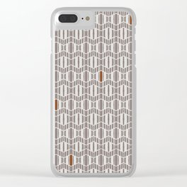 Zig Zagged Clear iPhone Case