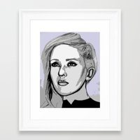ellie goulding Framed Art Prints featuring Ellie Goulding - pop art by CBDB
