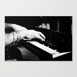 The Piano Man's Hands Canvas Print