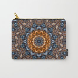 Bright Marble  Kaleidoscope  Mandala Carry-All Pouch