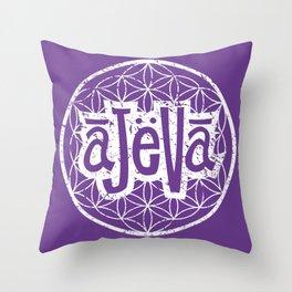 Ajeva Logo Purple Throw Pillow