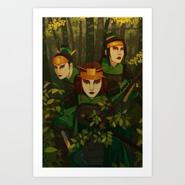 Kyoshi Warriors Art Print