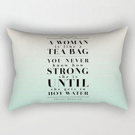 Strong Tea - Eleanor Roosevelt Quote Rectangular Pillow